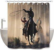 Cavallo nero marrone cavallo doccia tenda bagno