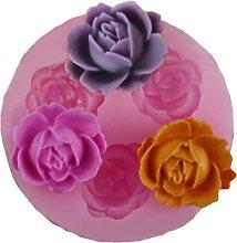 Cavità Silicone Fiore Rosa Cioccolato Stampo