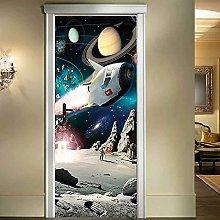 CBWRAW 3D Carta Parati Porta 77x200cm Astronauta