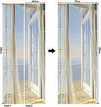 CBWRAW 3D Interne Adesivi per Porte Balcone Vista