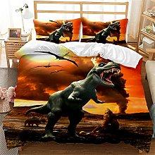 CCBAO Set Biancheria da Letto Dinosauro 3 Pezzi,