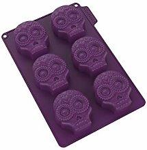 Cecoa - Stampo in silicone per 6 teste, motivo: