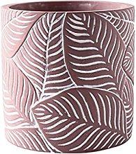 Cemento cilindrico floreale vaso domestico