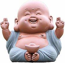 Ceramica Maitreya buddha statua di tè scultura a