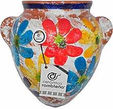 Ceramica rambilena | Vaso da appendere con orza |
