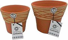 Ceramica Rambleña | Vasi in terracotta rossa |