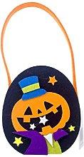 Cestino di caramelle di Halloween con manico,