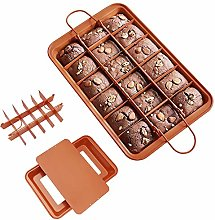 CestMall Brownie Teglia, Brownie Pan with Dividers