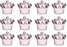 CESUO 12PZ Caramelle Scatole, Plastica Cupola con