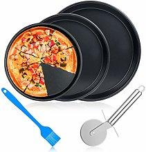 ceuao Teglia per Pizza, Piatti Pizza Set da 5,