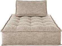 Chaise longue per divano componibile marrone