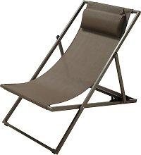 Chaise longue / sdraio pieghevole color talpa in