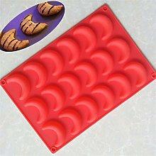 CHAOCHAO 18 Luna cioccolato stampo in silicone a