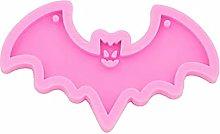 CHAOCHAO 2pcs Halloween Bat Shape Silicone Stampo
