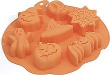CHAOCHAO Halloween Pumpkin Forma 3D Silicone torta