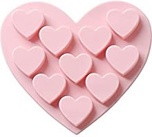CHAOCHAO Torta Mold 10 Love Heart Shaped Silicone