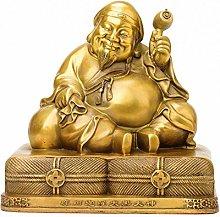 CHEIRS Statua del Buddha Buddha Felice Scultura