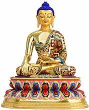 CHEIRS Statua del Buddha in Rame Puro di