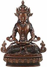 CHEIRS Statua del Buddha Longevità Seduta nel