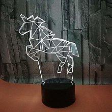 CHENCHAOK Constellation Horse Luce notturna 3D