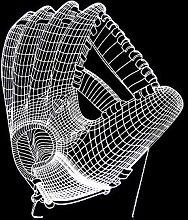 CHENCHAOK Guanti Luce notturna 3D Luce da comodino