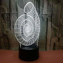CHENCHAOK Lampada da comodino con luce notturna 3D