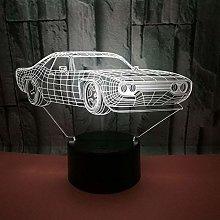 CHENCHAOK Luce notturna 3D luce da comodino per