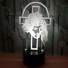 CHENCHAOK Luce notturna a croce 3D Luce da