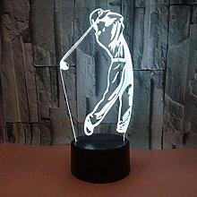 CHENCHAOK Luce notturna da golf 3D Luce da