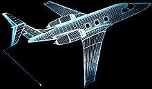 CHENCHAOK Luce notturna per aereo 3D Luce da