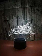 CHENCHAOK Luce notturna per astronave 3D Luce da