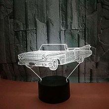 CHENCHAOK Luce notturna per auto 3D luce da
