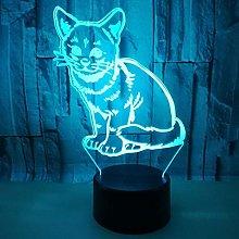 CHENCHAOK Luce notturna per gattino 3D Luce da