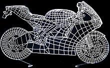 CHENCHAOK Luce notturna per motocicletta 3D Luce