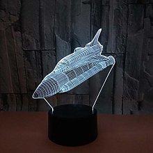 CHENCHAOK Luce notturna Rocket 3D Luce da comodino