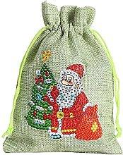 CHENXIAO Sacchetti regalo di iuta di Natale, 1
