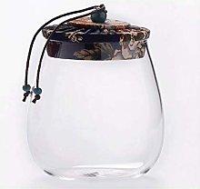 CHICAI Barattolo di caffè in vetro, vaso di tè