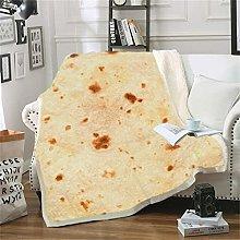 CHNSKIN Throw Pile Blanket 3D Tortilla Stampata