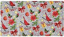 Christmas Cardinals - Tappetino antiscivolo per