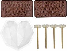 Chstarina Set Stampi Silicone Antiaderente,Grande