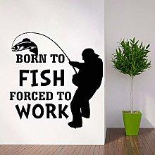 CHTHREEC Adesivo da parete per la pesca Adesivo da