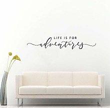CHTHREEC Adesivo murale con scritte Life is for