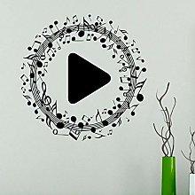 CHTHREEC Adesivo murale nota musicale pulsante di
