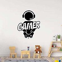 CHTHREEC Carving Gamer Wall Sticker Vinile murale