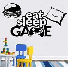 CHTHREEC Eat Sleep Game Wall Vinyl Sticker Boy