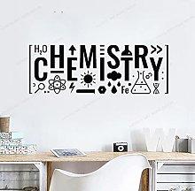 CHTHREEC Lettering Chimica Adesivo da parete in