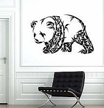 CHTHREEC Orso panda adesivo da parete animale