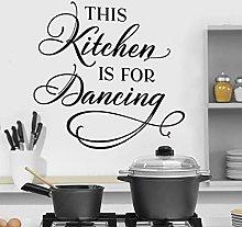 CHTHREEC Questa cucina sta ballando adesivo cucina
