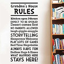 CHTHREEC Regole della casa dei nonni Adesivo