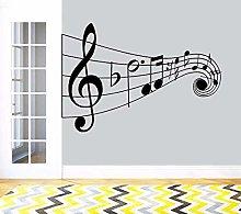 CHTHREEC Vinile nota musicale adesivo murale